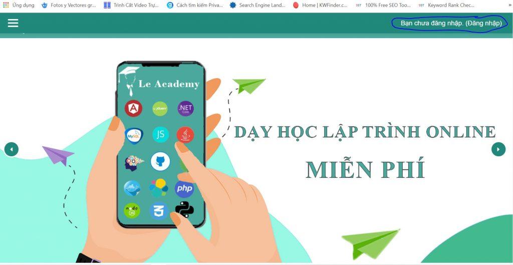 website hoc lap trinh online mien phi
