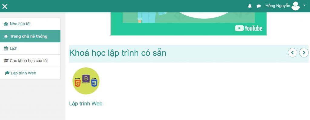 cac khoa hoc lap trinh online mien phi dang co
